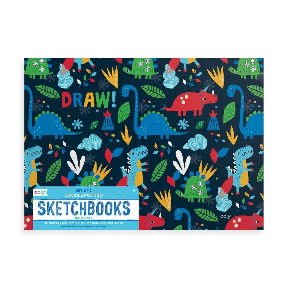 Doodle Pad Duo Sketchbooks: Dino Days - Set of 2
