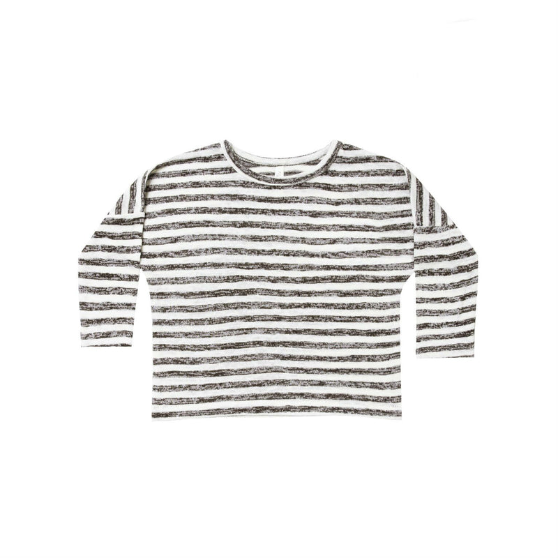 Ivory/Black Boxy Striped Tee