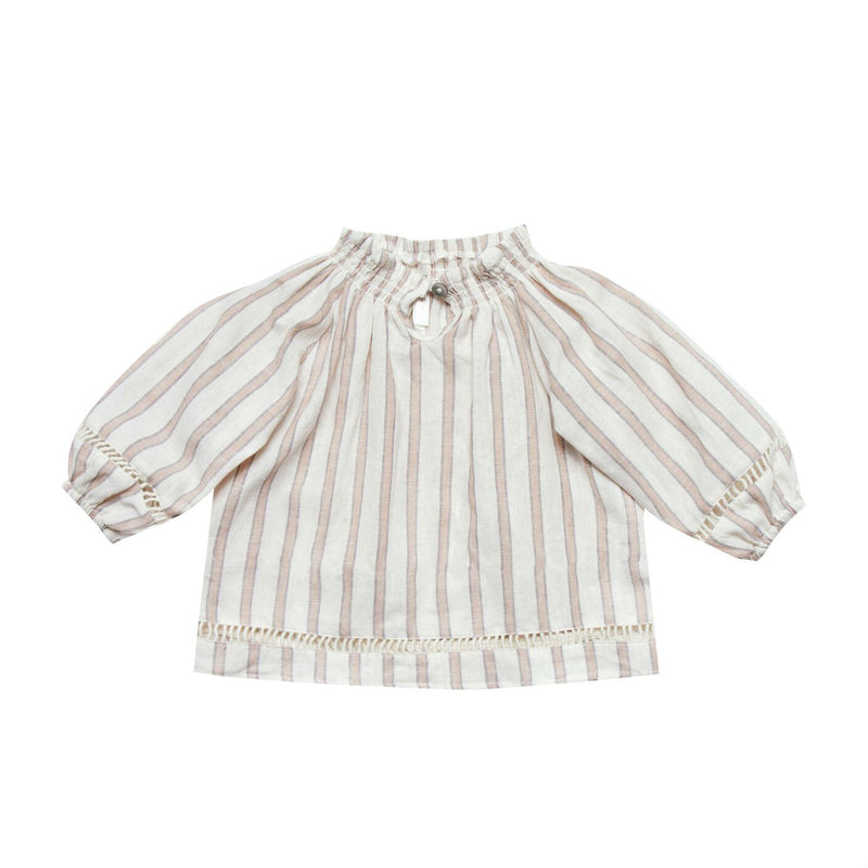 Truffle Stripe Quincy Blouse