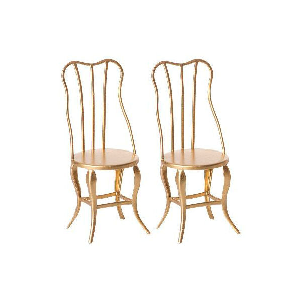 Gold, Micro, Vintage chair- 2 Pack