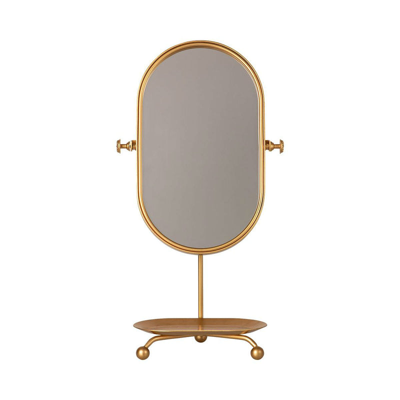 Table Mirror- Gold