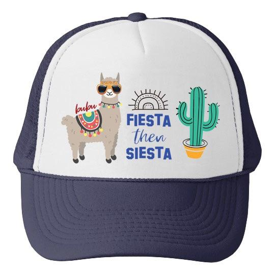 Fiesta Then Siesta Trucker Hat