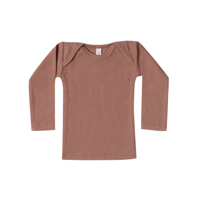 Clay Ribbed Lap Tee