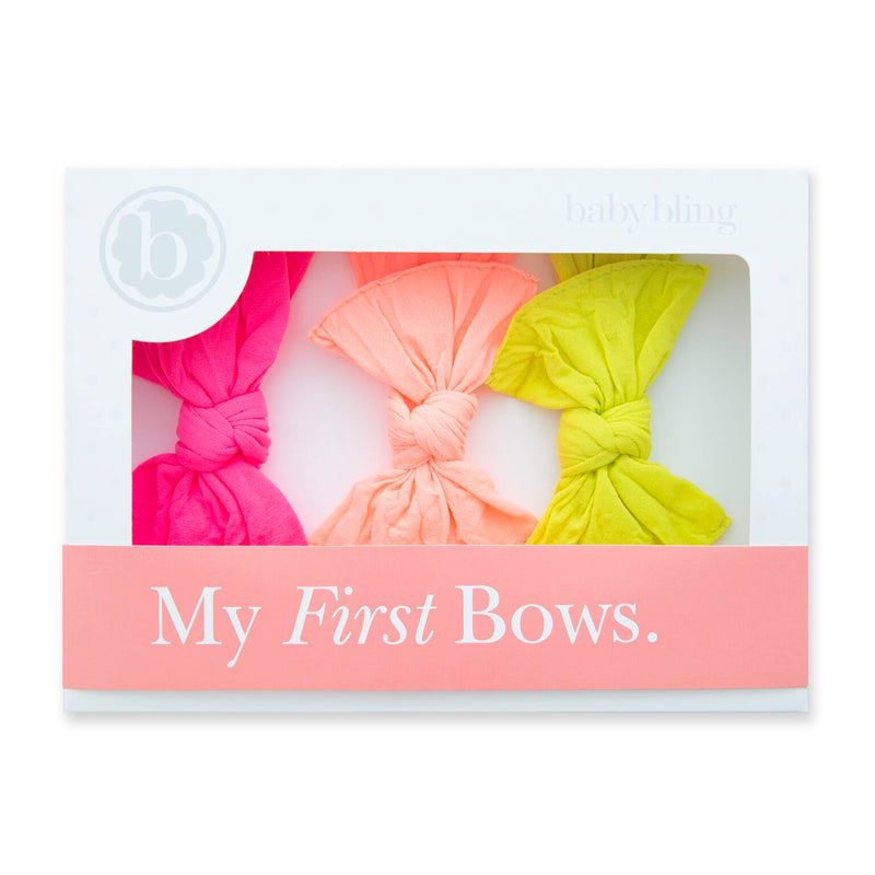 Neon Pink + Neon Coral + Neon Yellow 3PK Box Knot Set