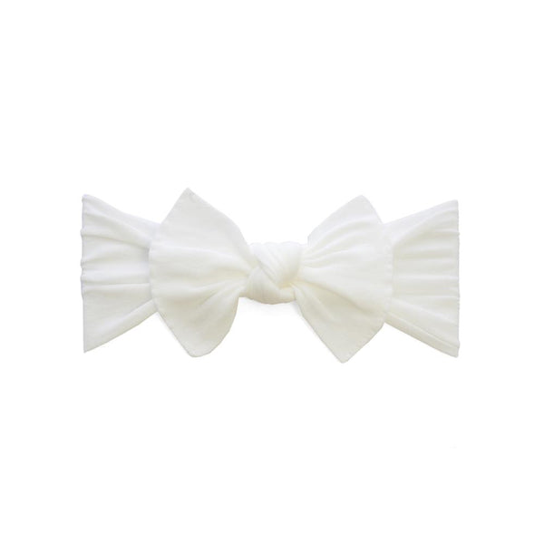 Itty Bitty White Knot Headband