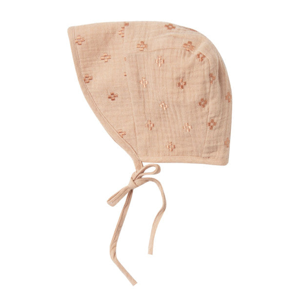 Cross Embroidered Bonnet