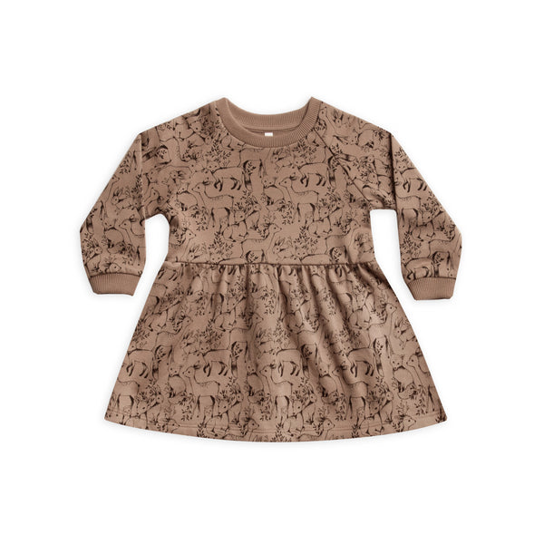 Truffle Woodland Raglan Dress