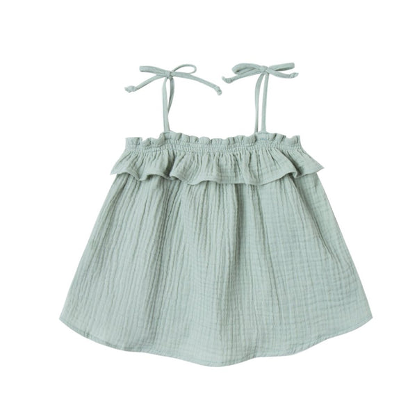 Seafoam Ruffle Tube Top