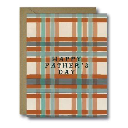 Vintage Plaid Happy Father's Day Greeting Card