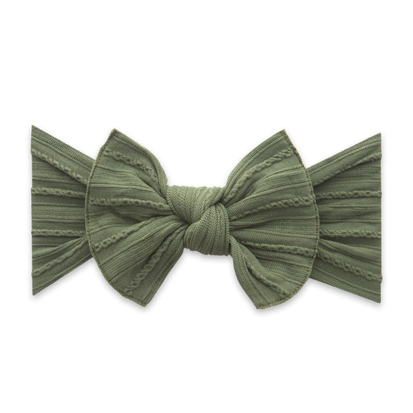 Army Green Cable Knit Knot