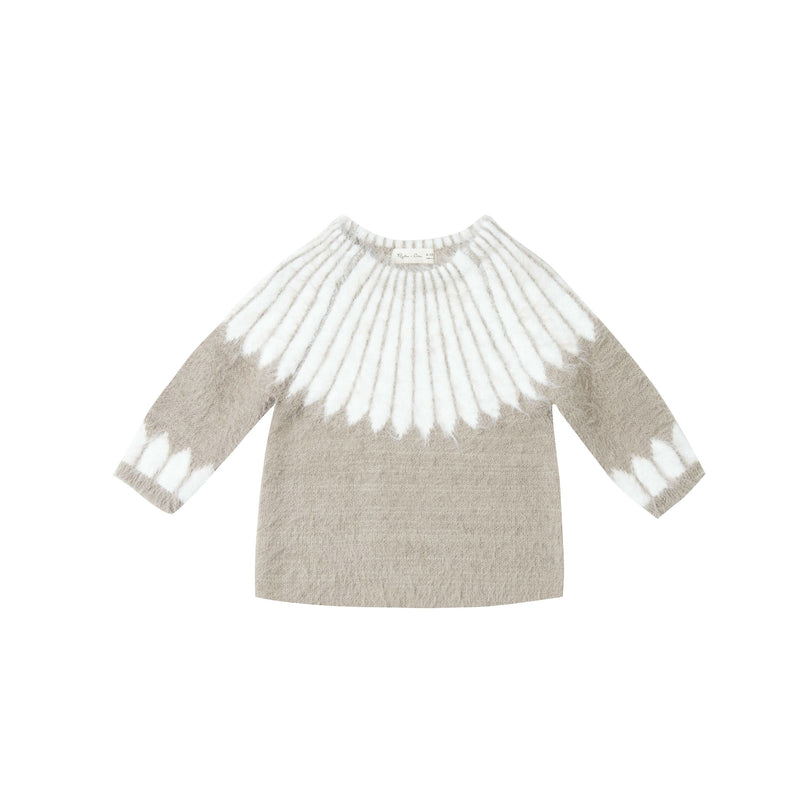 Grey/Ivory Chalet Sweater