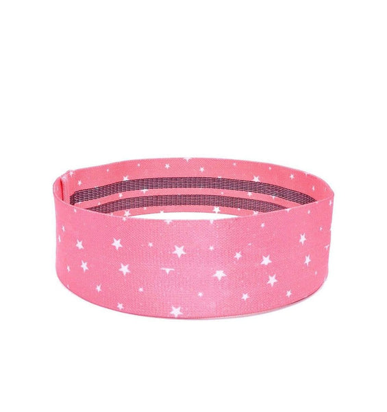 SWEATIA Fabric Booty Band- Starry Pink/LIGHT side