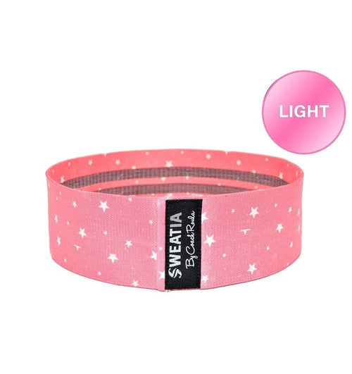 SWEATIA Fabric Booty Band- Starry Pink/LIGHT Front
