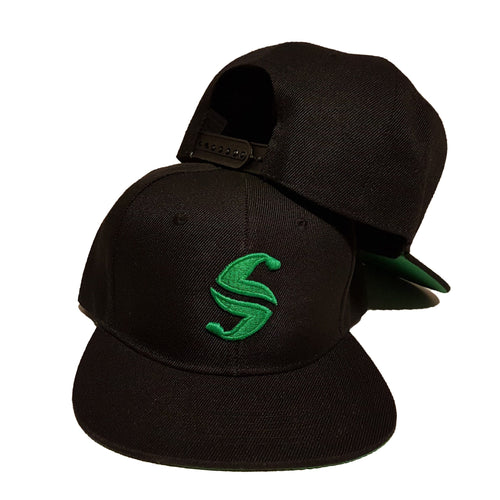 Classic Snap Back - Sweat Industry Apparel Black/Green Front
