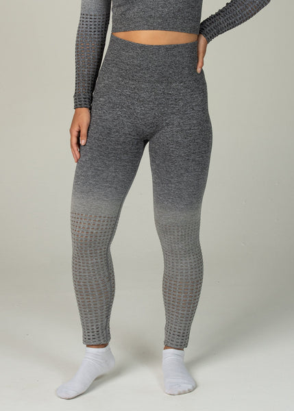 Seamless Conquest Leggings - Sweat Industry Apparel Grey Ombre Front