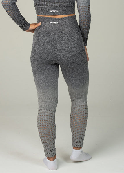 Seamless Conquest Leggings - Sweat Industry Apparel Grey Ombre Back
