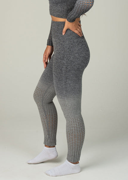 Seamless Conquest Leggings - Sweat Industry Apparel Grey Ombre Side