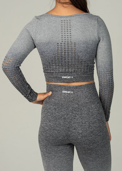 Seamless Conquest Top - Sweat Industry Apparel Grey Ombre Back