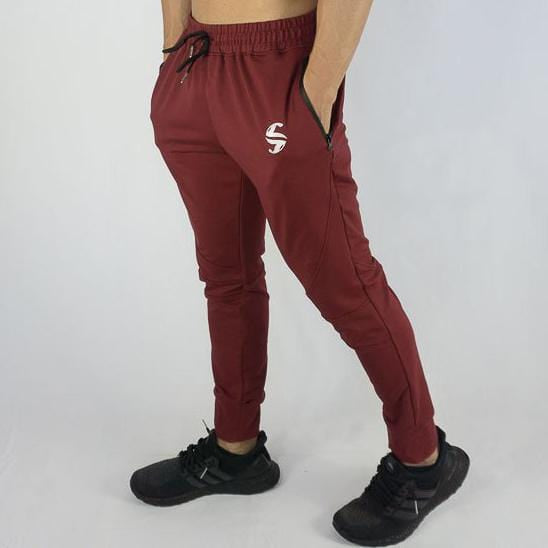 Aero Jogger - Sweat Industry Apparel Front Burgundy