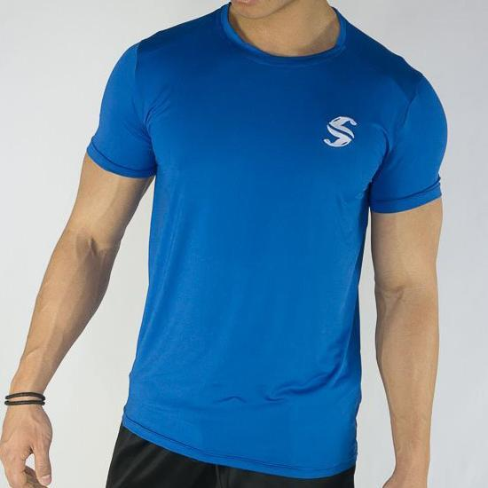 Signature Compression Tee - Sweat Industry Apparel Electric Blue Front