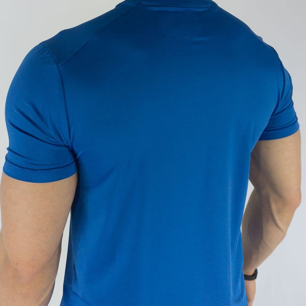 Signature Compression Tee - Sweat Industry Apparel Electric Blue Back
