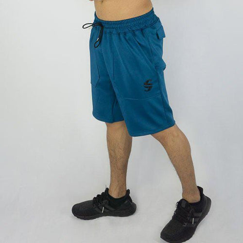 Training Shorts - Sweat Industry Apparel Olympic Blue Front