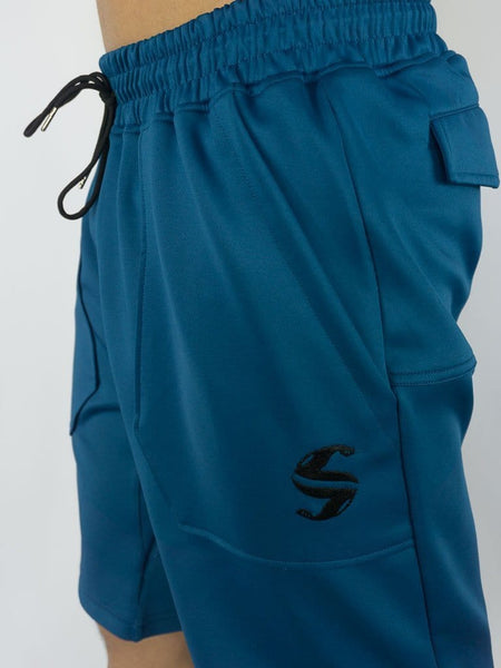 Training Shorts - Sweat Industry Apparel Olympic Blue Side