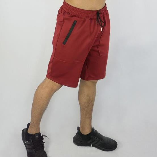 Training Shorts - Sweat Industry Apparel Burgundy Side