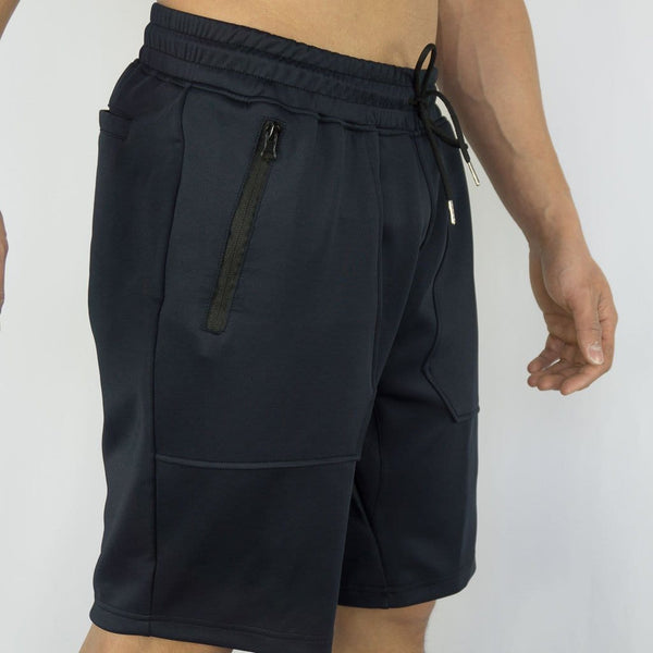 Sweatia Training Shorts with zipper pockets - Navy Blue-3