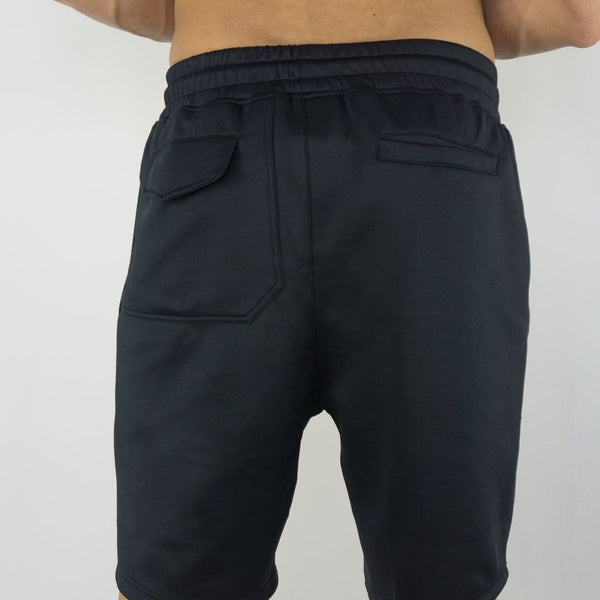Sweatia Training Shorts with zipper pockets - Navy Blue-Back
