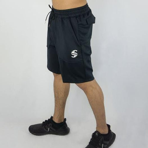 Training Shorts - Sweat Industry Apparel Navy Blue Front