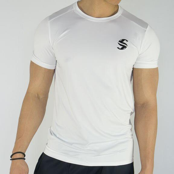 Signature Compression Tee - Sweat Industry Apparel White Front