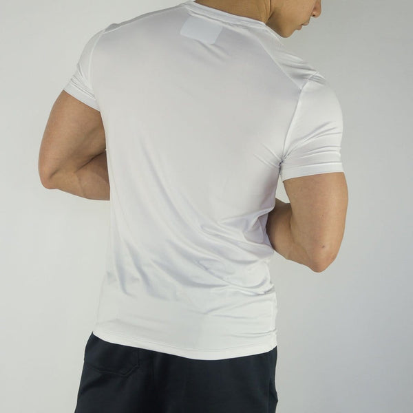 Signature Compression Tee - Sweat Industry Apparel White Back