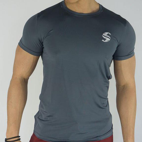 Signature Compression Tee - Sweat Industry Apparel Carbon Front