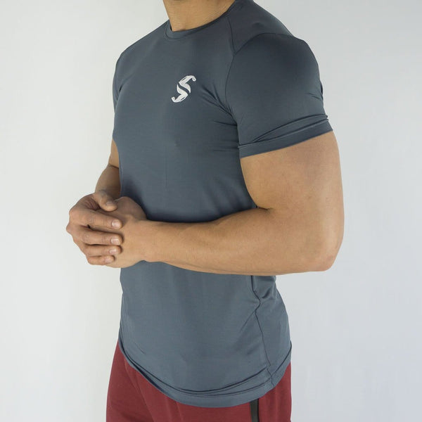 Signature Compression Tee - Sweat Industry Apparel Carbon Side