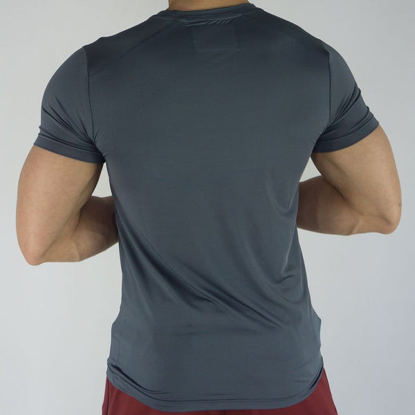 Signature Compression Tee - Sweat Industry Apparel Carbon Back