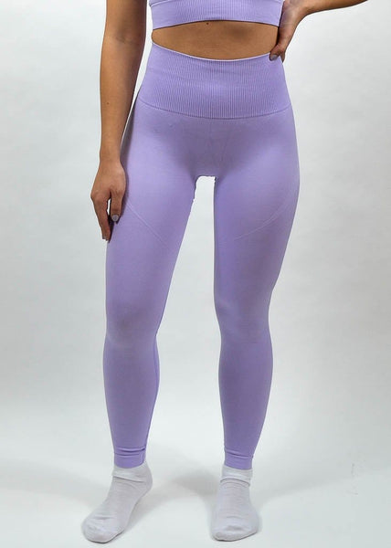 Seamless Flex Leggings- Sweat Industry Apparel Lilac Front