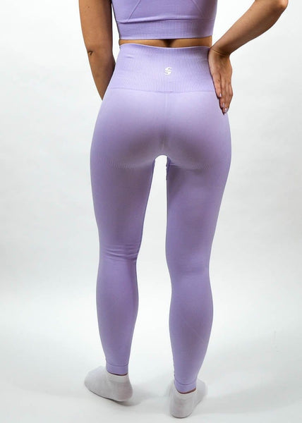 Seamless Flex Leggings- Sweat Industry Apparel Lilac Back