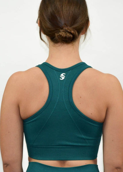 Seamless Flex Sports Bra- Sweat Industry Apparel Alpine Back