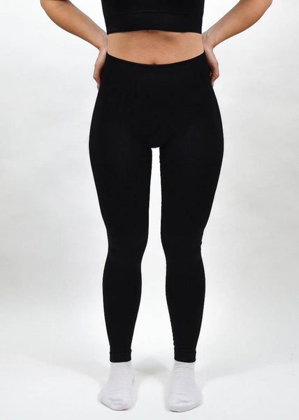 Seamless Flex Leggings- Sweat Industry Apparel Black Front