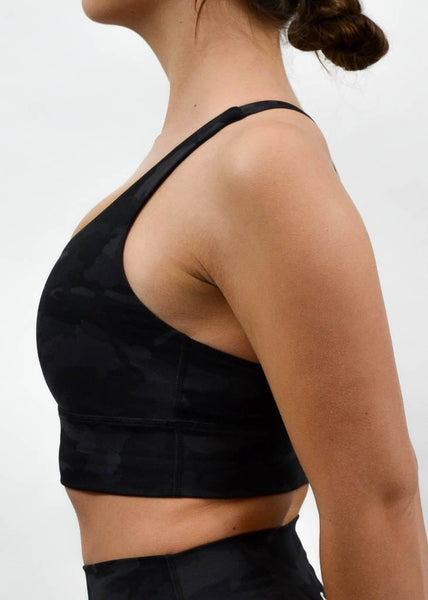 Legacy Sports Bra - Sweat Industry Apparel Black Camo Side
