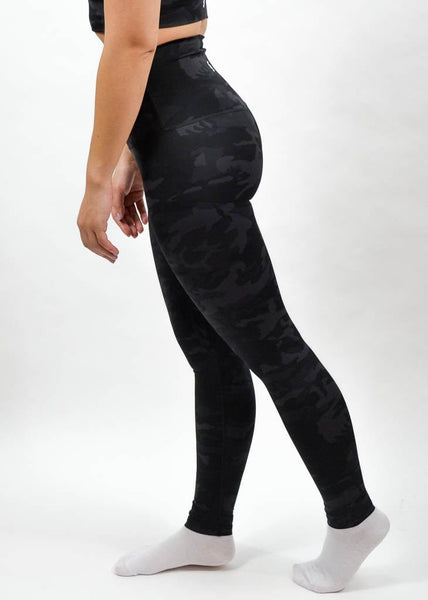 Elemental Leggings - Sweat Industry Apparel Black Camo Side