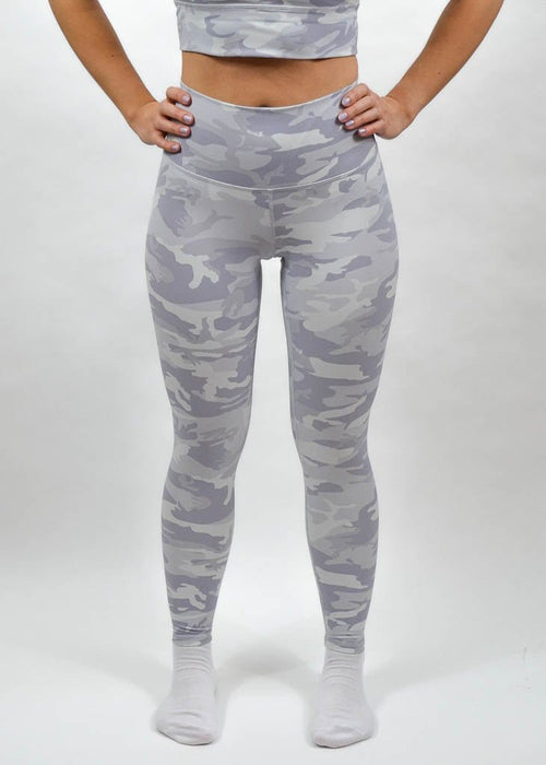 Breeze Leggings - Sweat Industry Apparel Pastel White Camo Front
