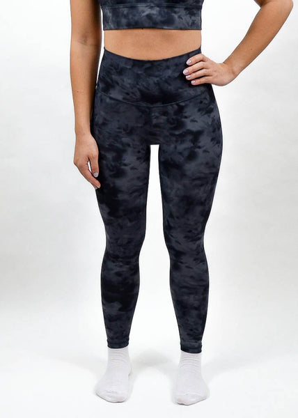 Legacy Leggings - Sweat Industry Apparel Black Tie Dye Front