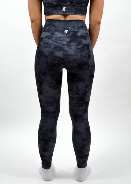 Legacy Leggings - Sweat Industry Apparel Black Tie Dye Back