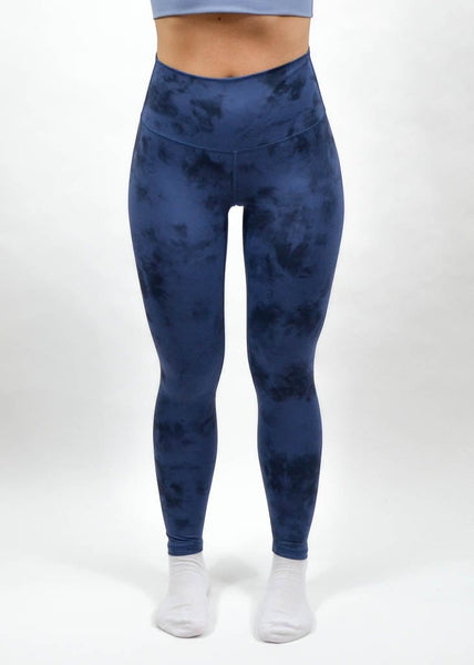 Legacy Leggings - Sweat Industry Apparel Blue Tie Dye Front