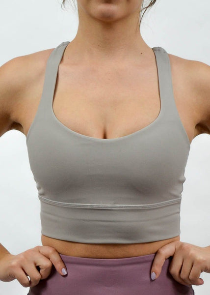 Ethereal Sports Bra - Sweat Industry Apparel Cream Front