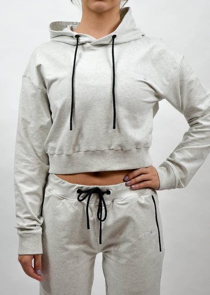 SI Jogger Crop Hoodie- Sweat Industry Apparel Frost Front