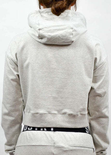 SI Jogger Crop Hoodie- Sweat Industry Apparel Black Back
