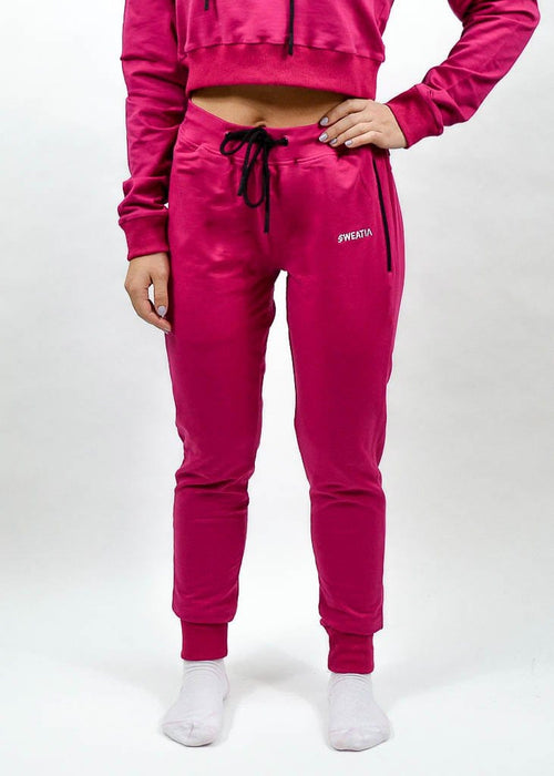 SI Jogger 2.0- Sweat Industry Apparel Fuchsia Front
